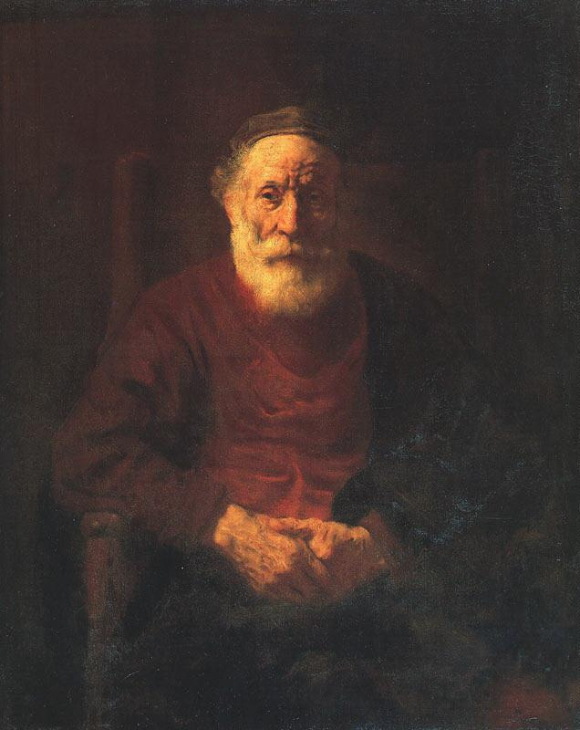 Rembrandt Portrait of an Old Jewish Man France oil painting art