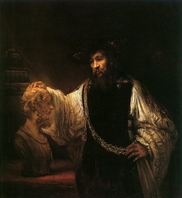 Rembrandt Aristotle with a Bust of Homer France oil painting art