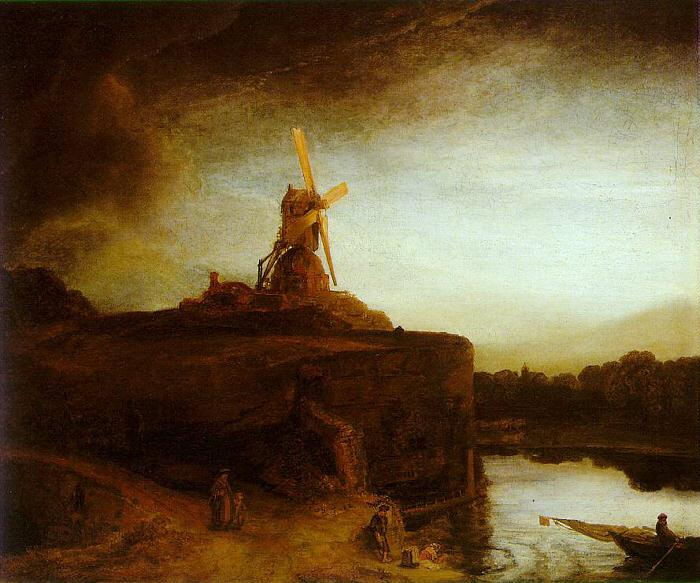 Rembrandt The Mill oil painting image
