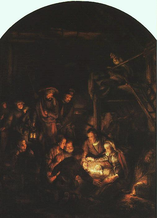 Rembrandt Adoration of the Shepherds France oil painting art
