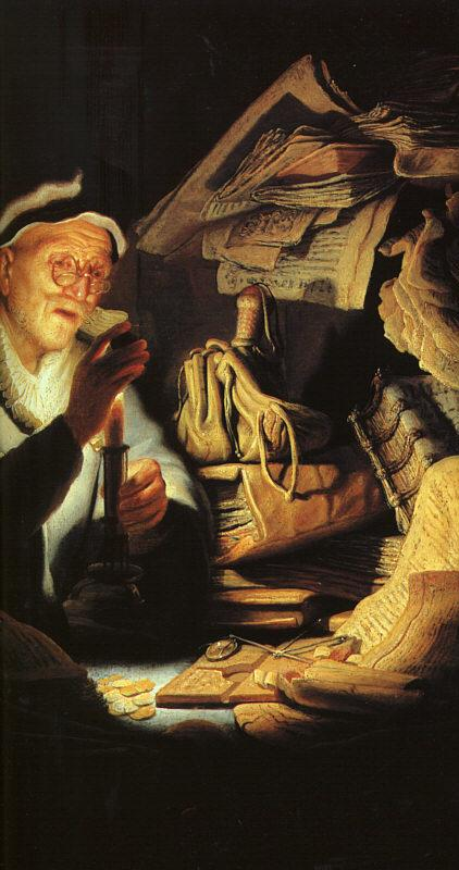 Rembrandt The Rich Old Man from the Parable oil painting picture