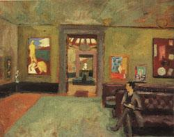 Roger Fry A Room in the Second Post-Impressionist Exhibition(The Matisse Room) oil painting image