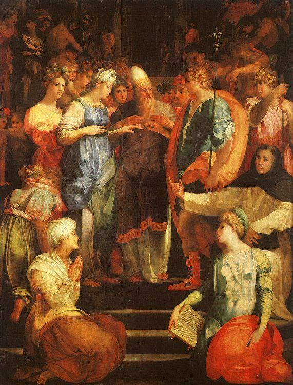 Rosso Fiorentino Marriage of The Virgin France oil painting art