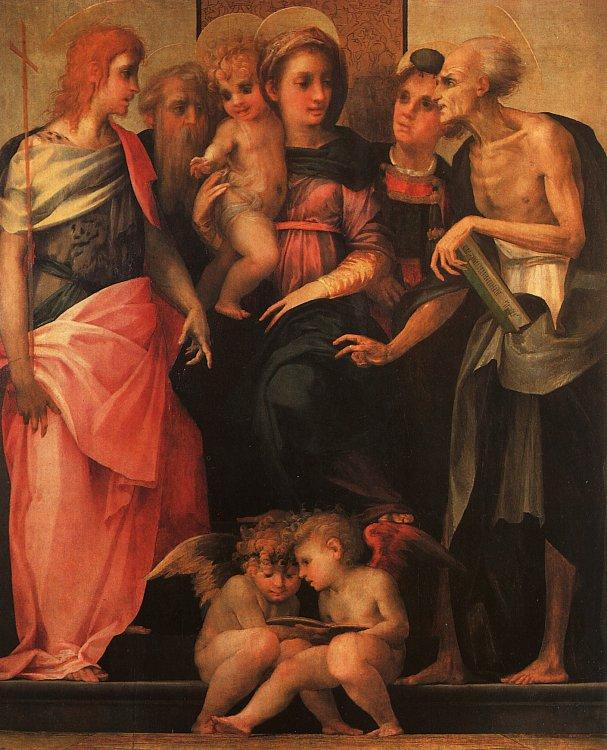 Rosso Fiorentino Madonna and Child with Saints France oil painting art