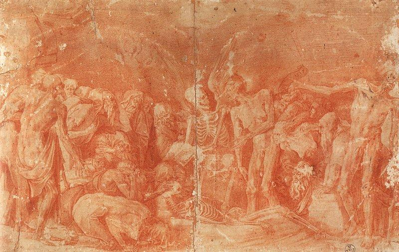 Rosso Fiorentino Macabre Allegory France oil painting art