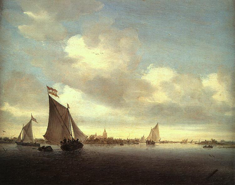Saloman van Ruysdael Marine France oil painting art
