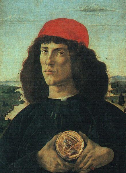 Sandro Botticelli Portrait of a Man with a Medal oil painting image