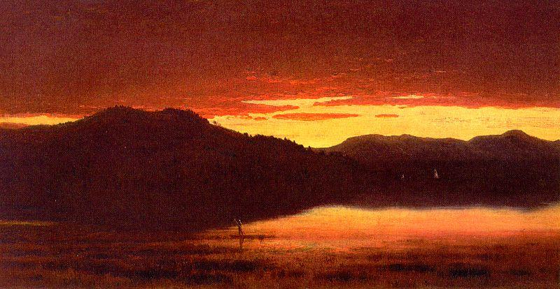 Sanford Robinson Gifford Twilight at Mt Merino France oil painting art
