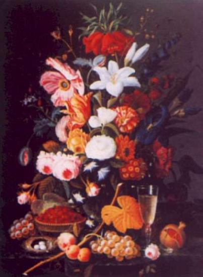 Severin Roesen Floral Still Life France oil painting art