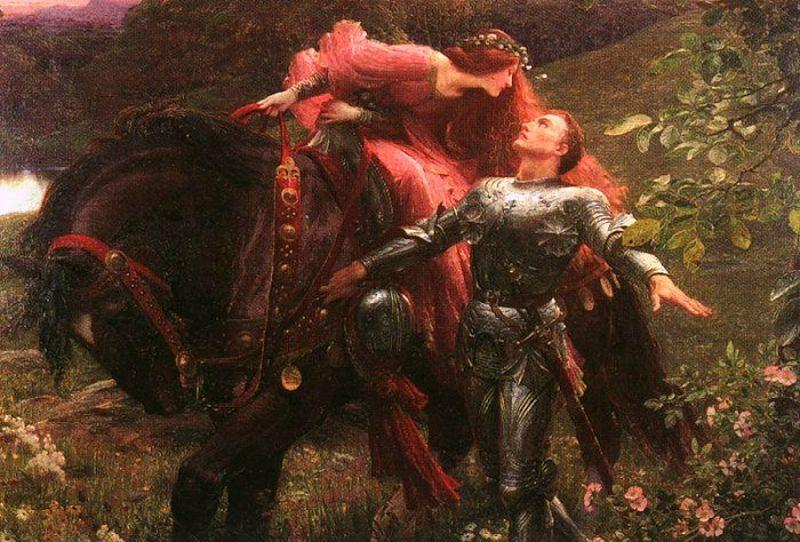 Sir Frank Dicksee Le Belle Dame Sans Merci oil painting image