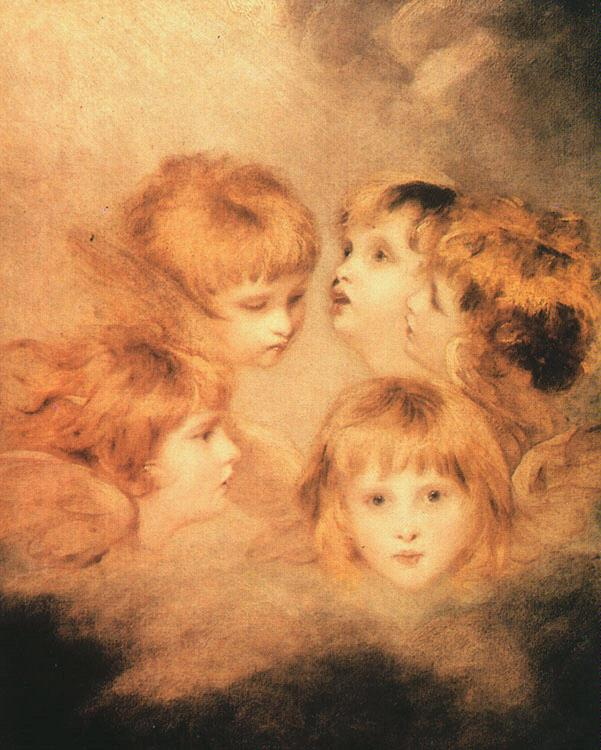 Sir Joshua Reynolds Heads of Angels France oil painting art