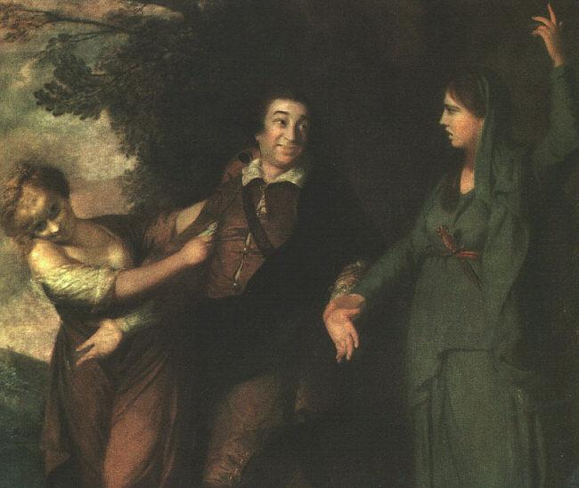 Sir Joshua Reynolds Garrick Between Tragedy and Comedy France oil painting art