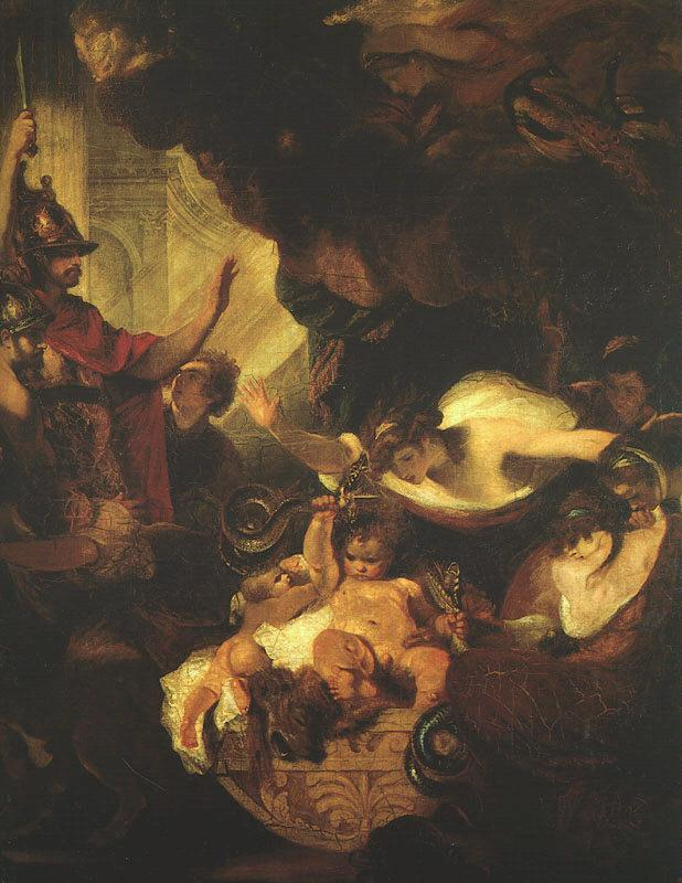 Sir Joshua Reynolds The Infant Hercules Strangling the Serpents Sent by Hera France oil painting art
