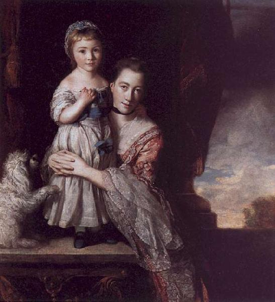 Sir Joshua Reynolds The Countess Spencer with her Daughter Georgina France oil painting art