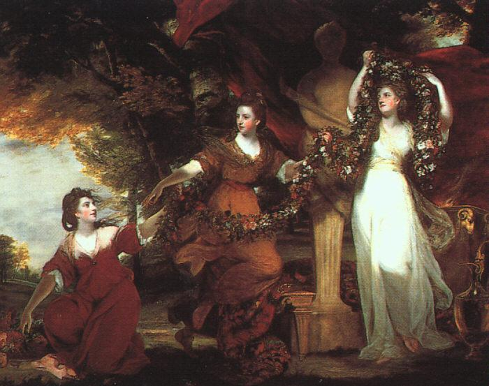 Sir Joshua Reynolds Ladies Adorning a Term of Hymen France oil painting art
