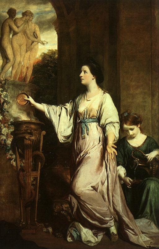 Sir Joshua Reynolds Lady Sarah Bunbury Sacrificing to the Graces France oil painting art