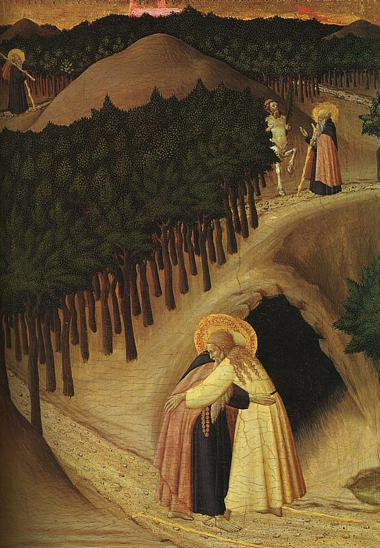 Stefano di Giovanni Sassetta The Meeting of St.Anthony and St.Paul France oil painting art