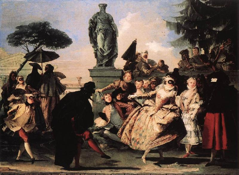 TIEPOLO, Giovanni Domenico Minuet t oil painting picture