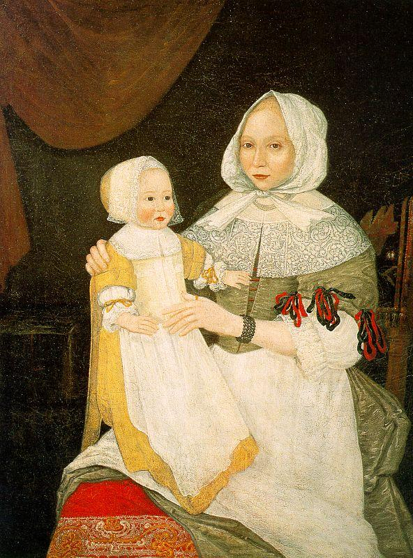The Freake Limner Mrs Elizabeth Freake and Baby Mary France oil painting art