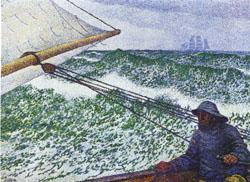 Theo Van Rysselberghe Man at the Helm oil painting image