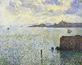 Theo Van Rysselberghe Sailboats and Estuary oil painting image