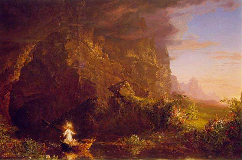 Thomas Cole The Voyage of Life: Childhood France oil painting art