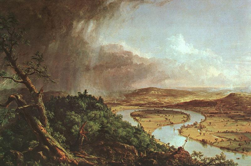 Thomas Cole The Connecticut River near Northampton oil painting image
