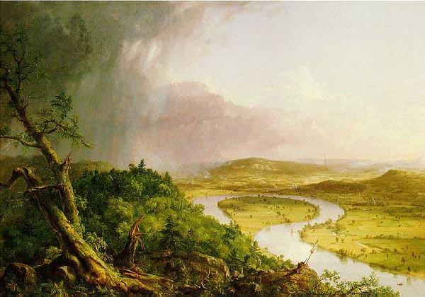 Thomas Cole 'The Ox Bow' of the Connecticut River near Northampton, Massachusetts France oil painting art