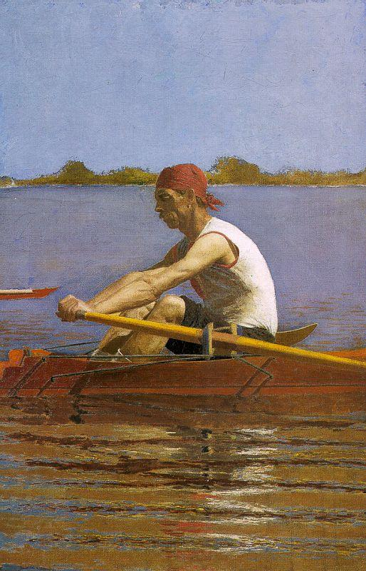 Thomas Eakins John Biglin in a Single Scull France oil painting art