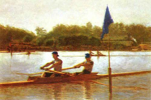 Thomas Eakins Biglen Brothers, Turning the Stake France oil painting art
