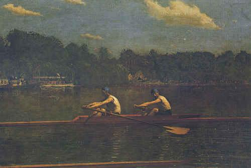 Thomas Eakins Biglen Brothers Racing France oil painting art