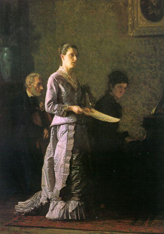 Thomas Eakins The Pathetic Song oil painting image
