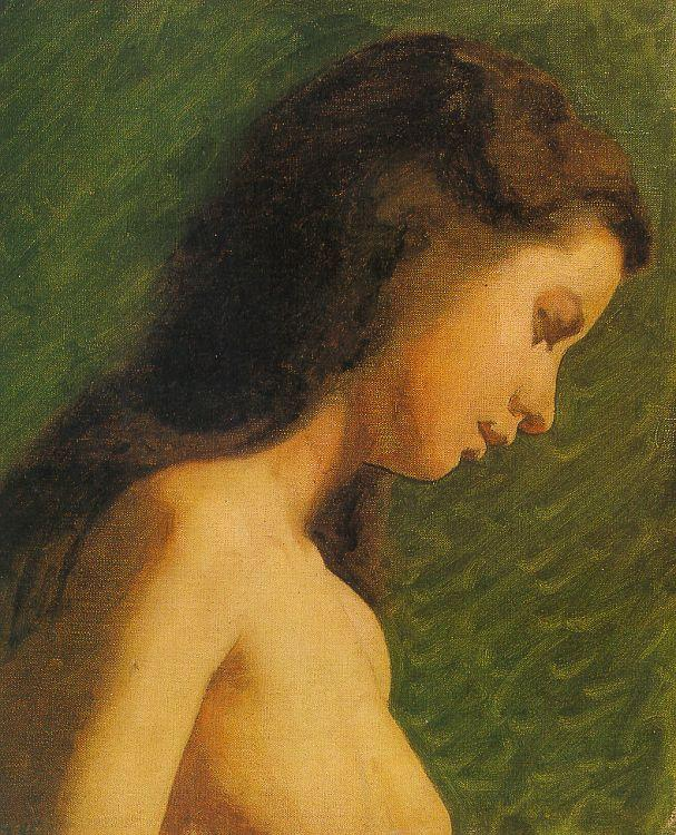 Thomas Eakins Study of a Girl Head France oil painting art