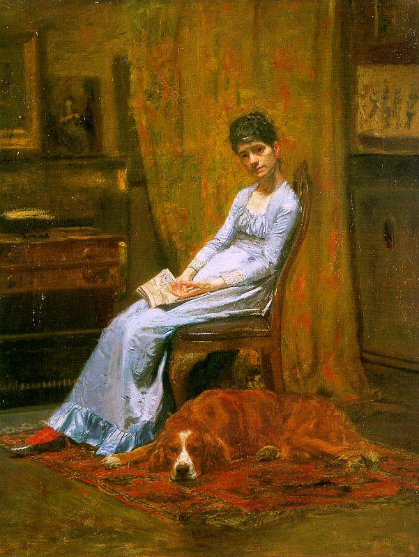 Thomas Eakins The Artist's Wife and his Setter Dog France oil painting art