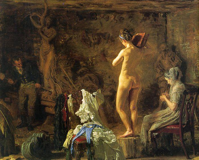 Thomas Eakins William Rush Carving his Allegorical Figure of the Schuylkill River France oil painting art