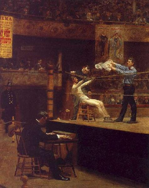 Thomas Eakins Between Rounds France oil painting art