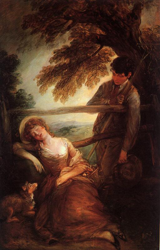 Thomas Gainsborough Haymaker and Sleeping Girl oil painting image