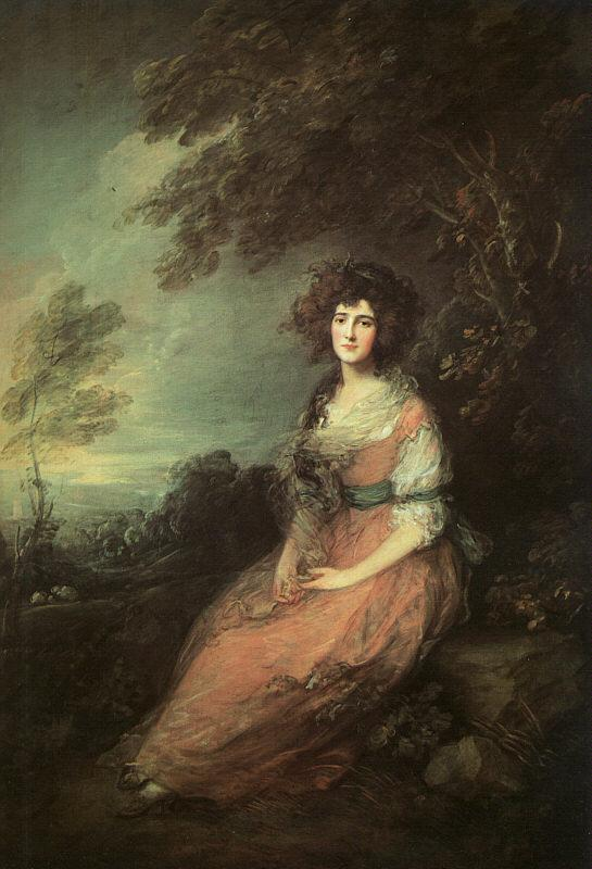 Thomas Gainsborough Mrs Richard Brinsley Sheridan oil painting image