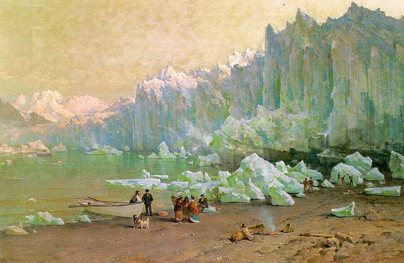 Thomas Hill The Muir Glacier in Alaska France oil painting art