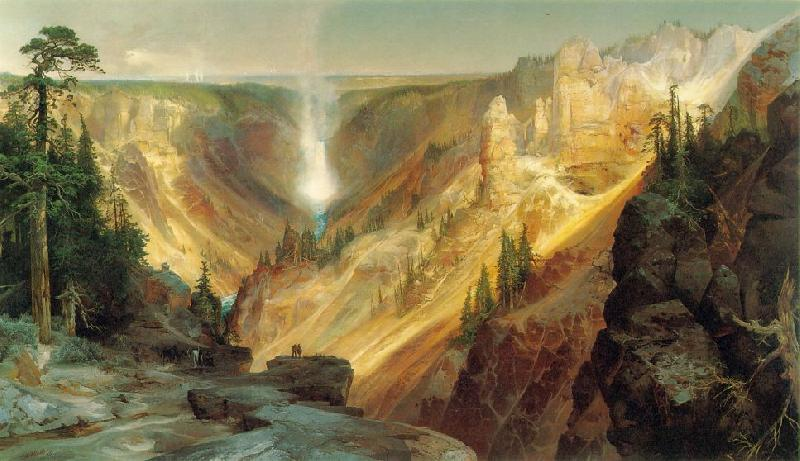 Thomas Moran Grand Canyon of the Yellowstone France oil painting art