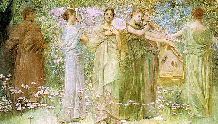 Thomas Wilmer Dewing The Days France oil painting art