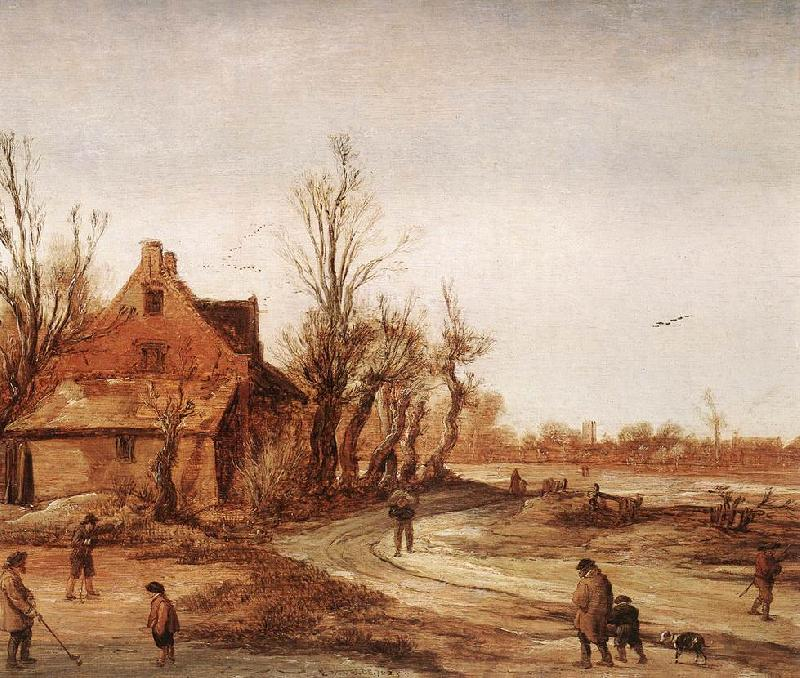 VELDE, Esaias van de Winter Landscape rt oil painting image
