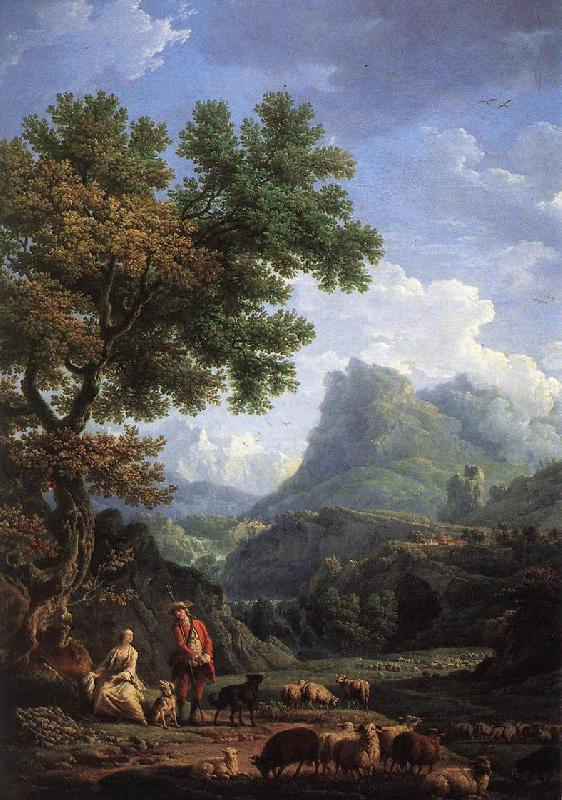 VERNET, Claude-Joseph Shepherd in the Alps  we r oil painting image