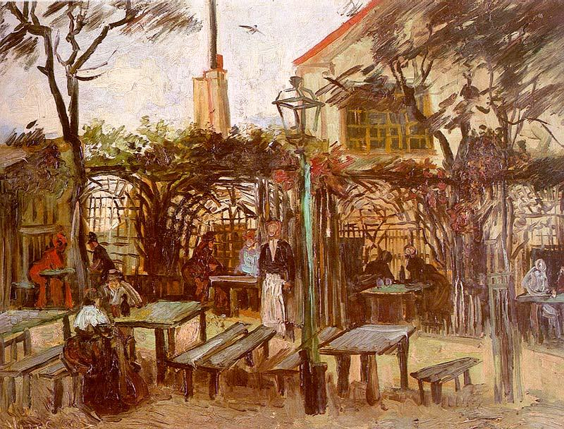 Vincent Van Gogh Terrace of the Cafe on Montmartre oil painting image