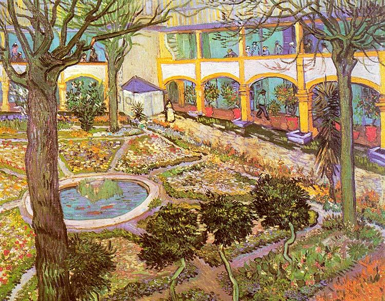 Vincent Van Gogh The Courtyard of the Hospital in Arles oil painting image