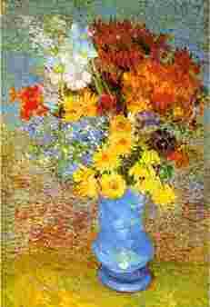 Vincent Van Gogh Vase of Daisies, Marguerites and Anemones oil painting image