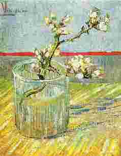 Vincent Van Gogh Blooming Almond Stem in a Glass oil painting image