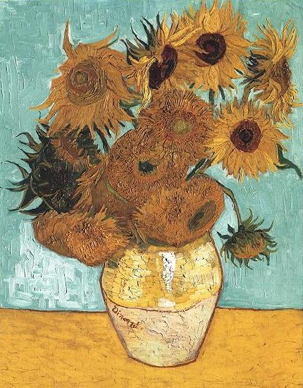 Vincent Van Gogh Vase with Twelve Sunflowers oil painting image