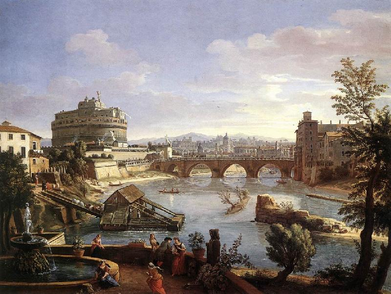 WITTEL, Caspar Andriaans van The Castel Sant Angelo from the South oil painting image