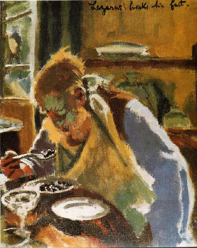 Walter Sickert Lazurus Breaks His Fast France oil painting art